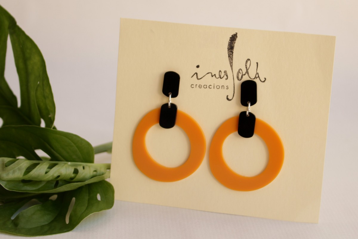 Pendientes Kandinsky orange...