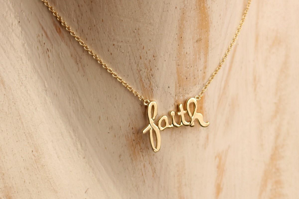 Gargantilla colgante FAITH...