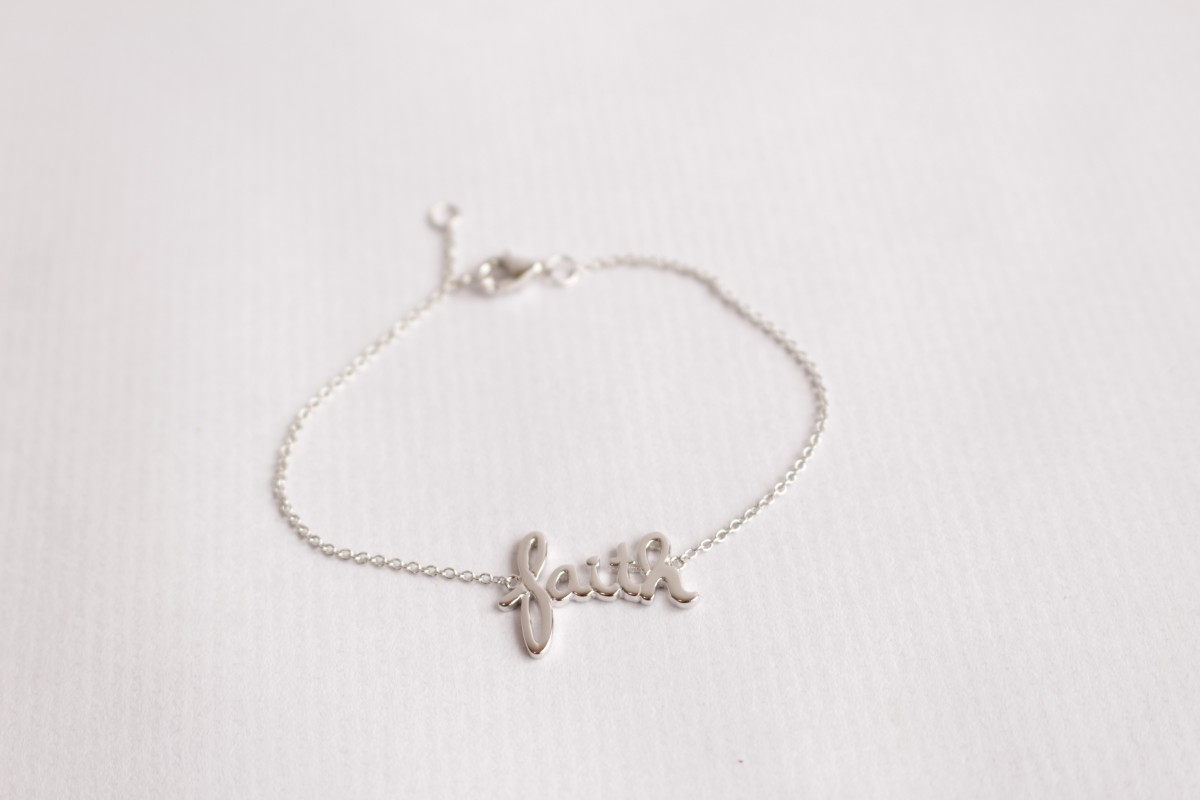 Pulsera cadena fina FAITH...