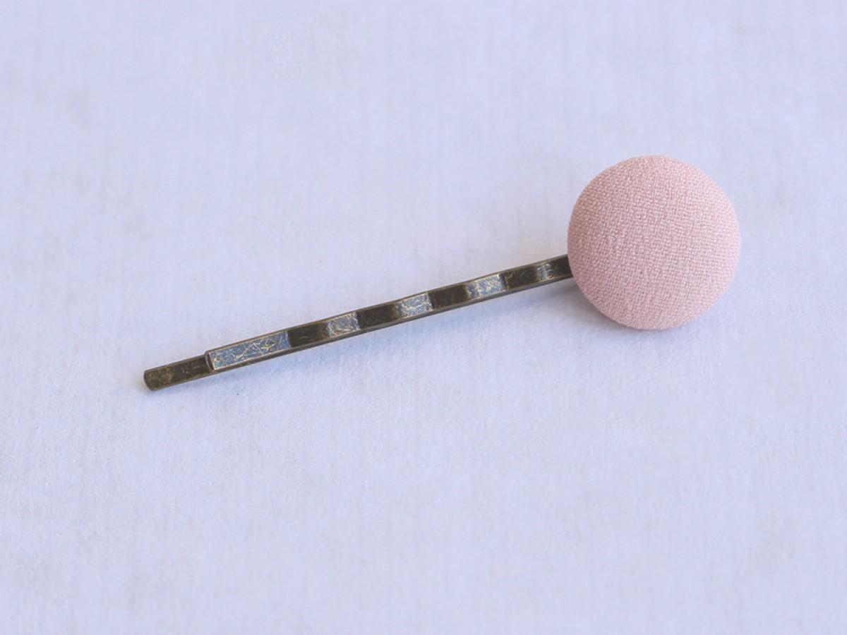 """Clip """"Botón tela"""" rosa..."""