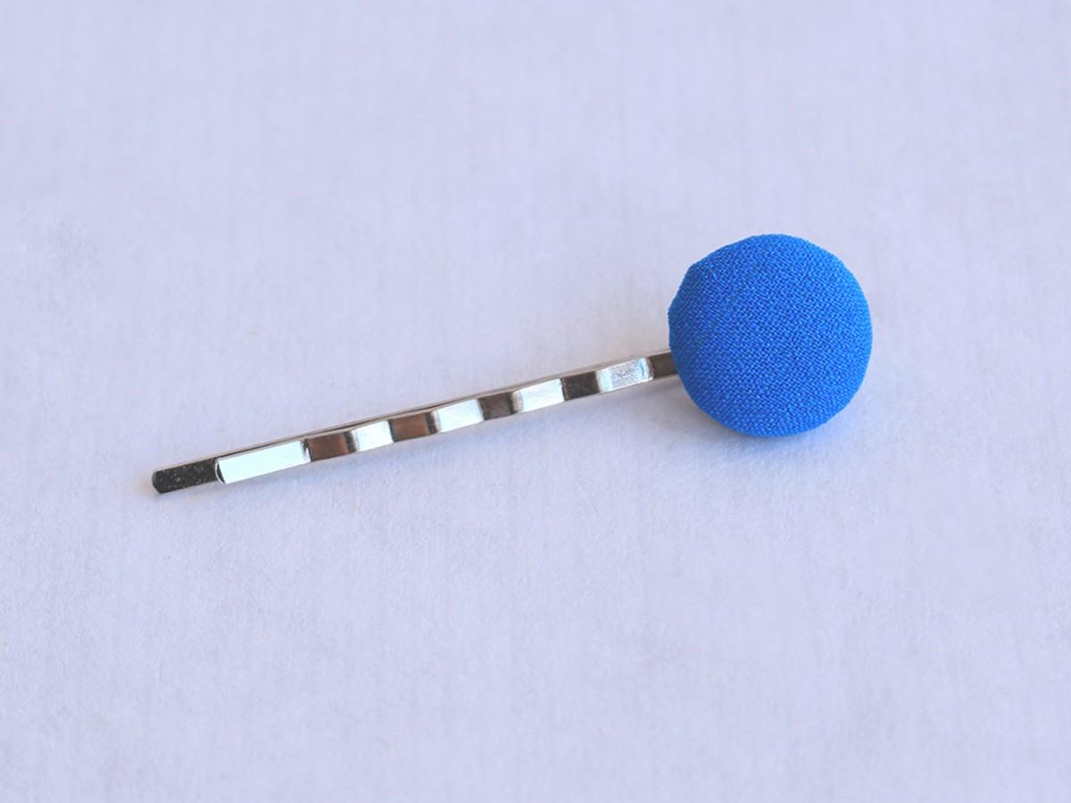 """Clip """"Botón tela"""" azul..."""