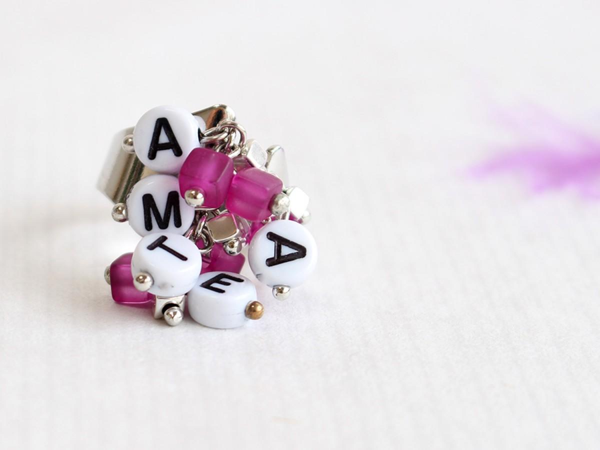 "Anillo ""AMATE"" detalles..."