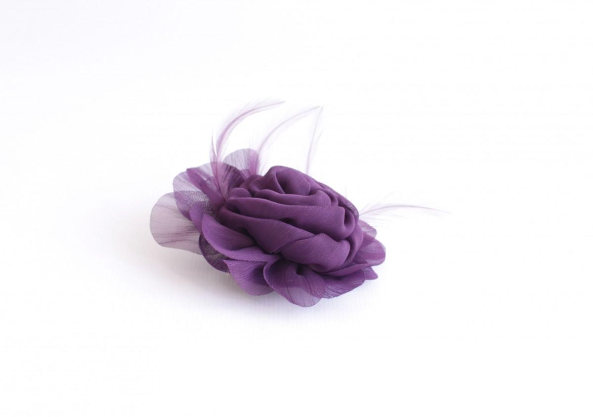 Broche y clip pelo lila