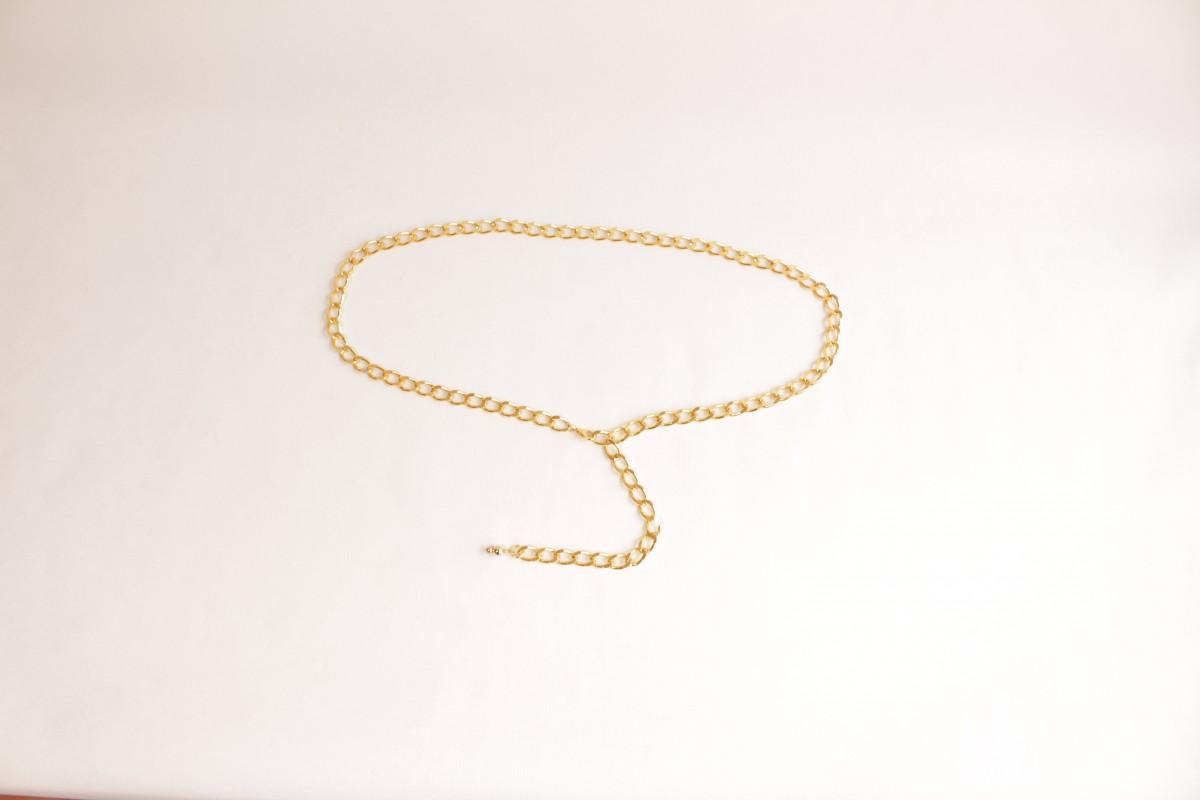Cinturón cadena dorado