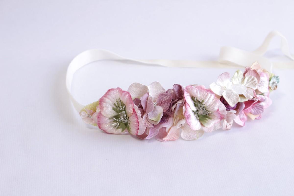 Cinturón flores rosas...