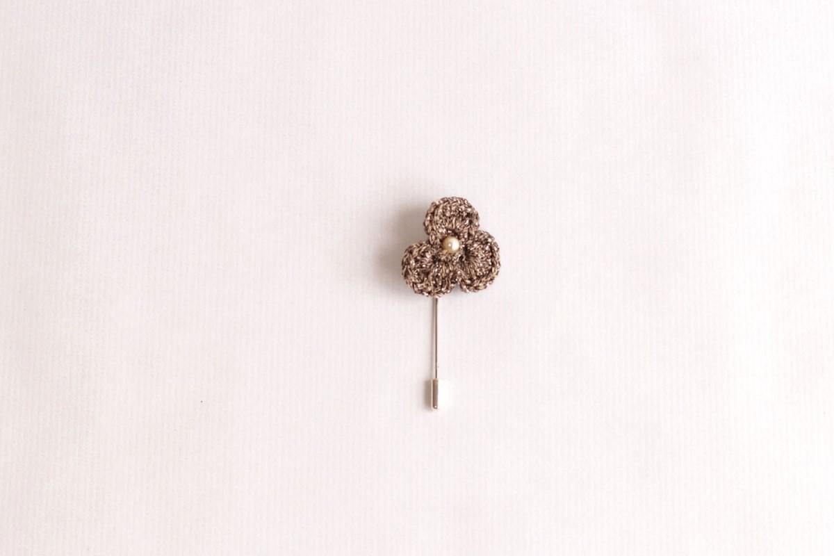 Pincho flor ganchillo...