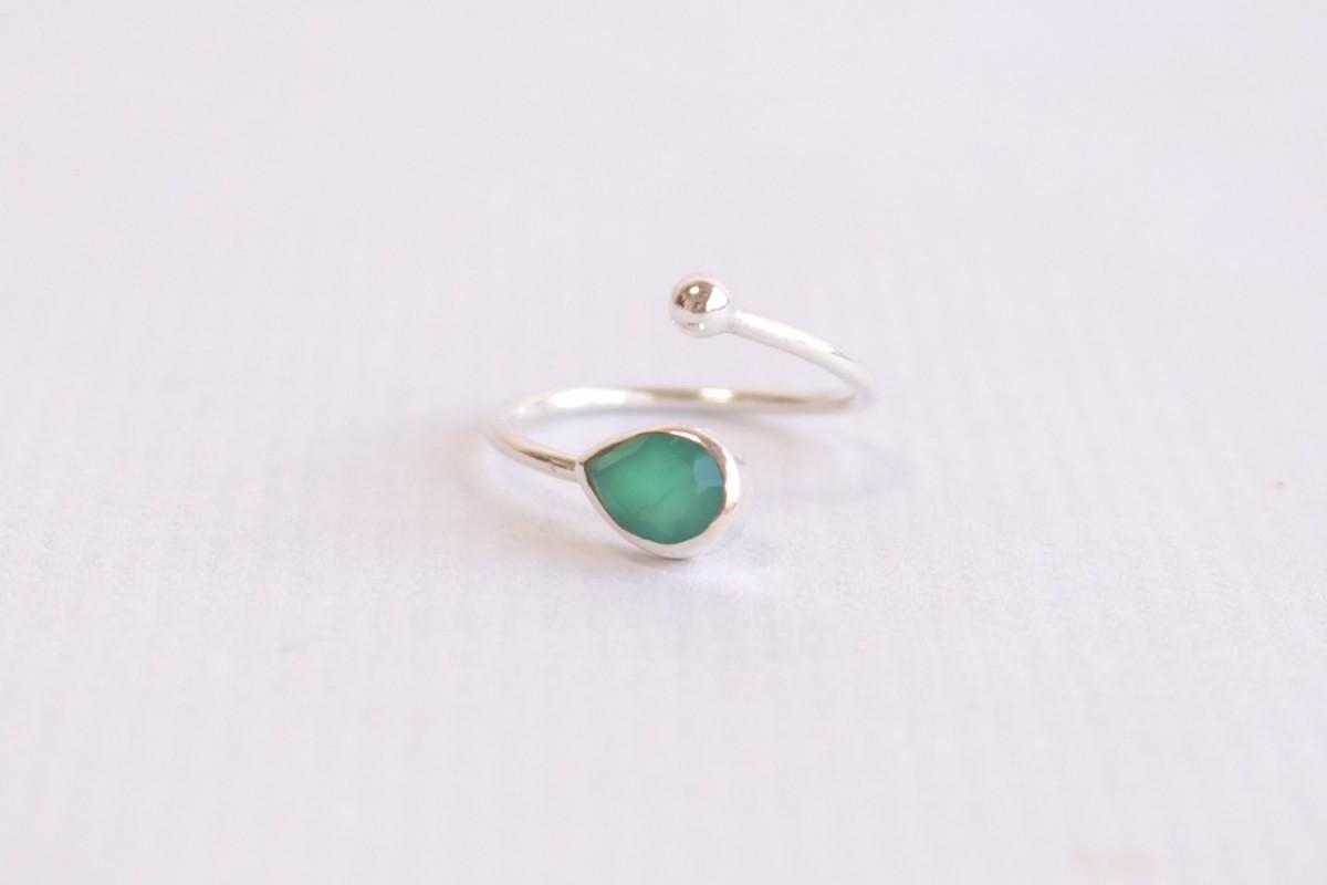 Anillo mineral Onix verde
