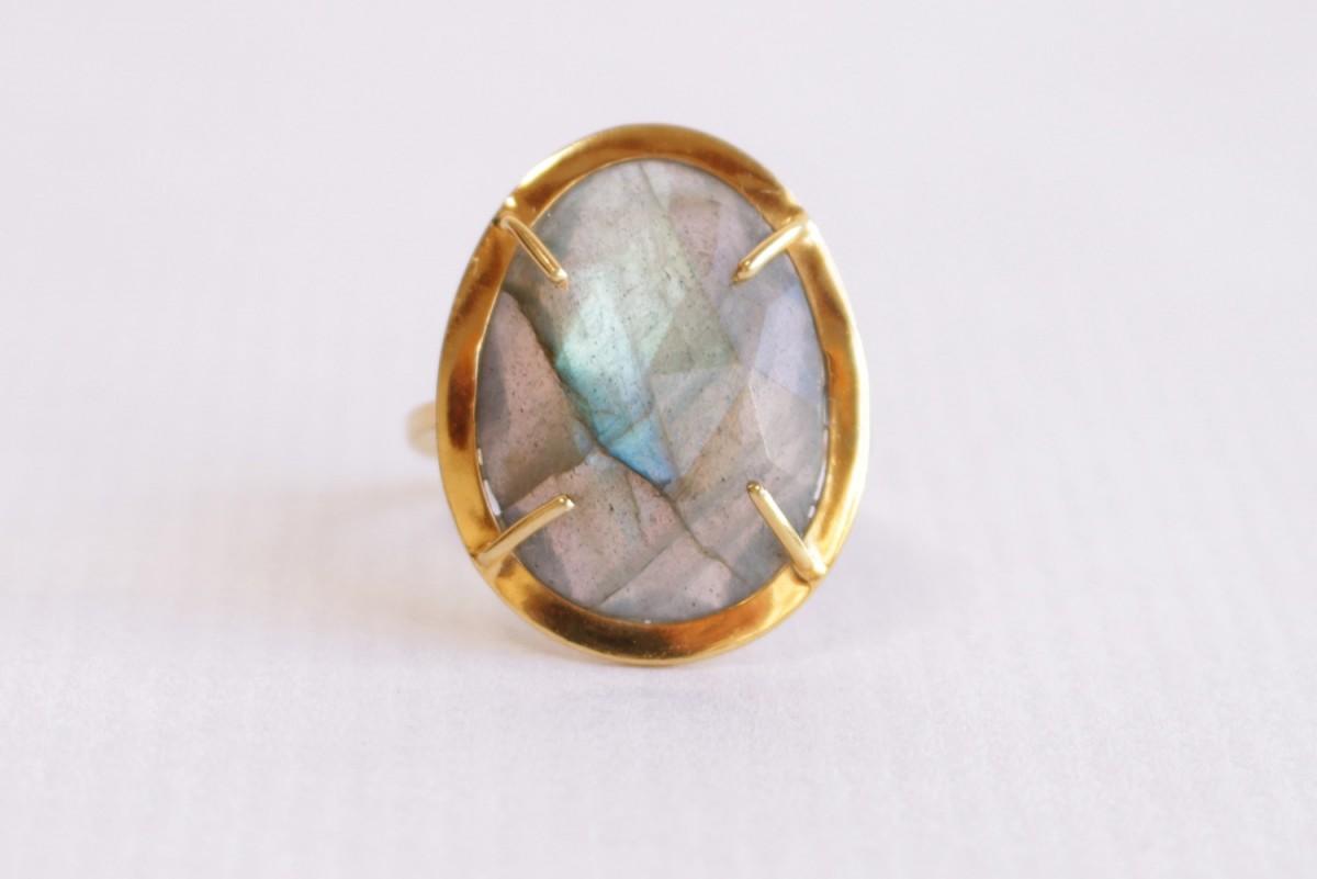 Anillo mineral con piedra...